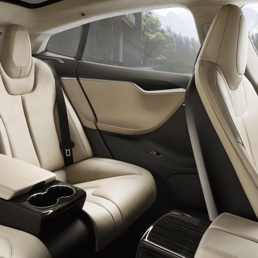 Tesla Chauffeur rear seats