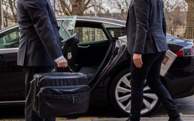 Ecosse EV Chauffeur Edinburgh opening door