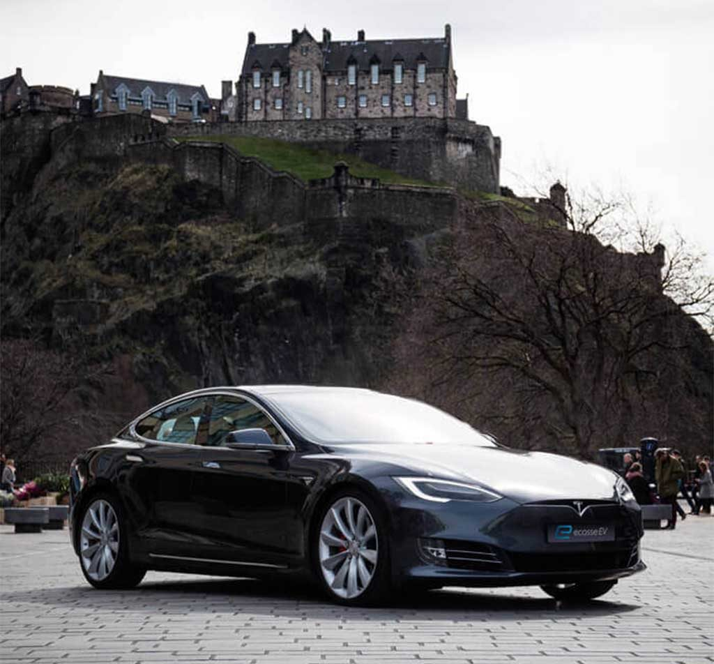 Tesla Model S in Edinburgh