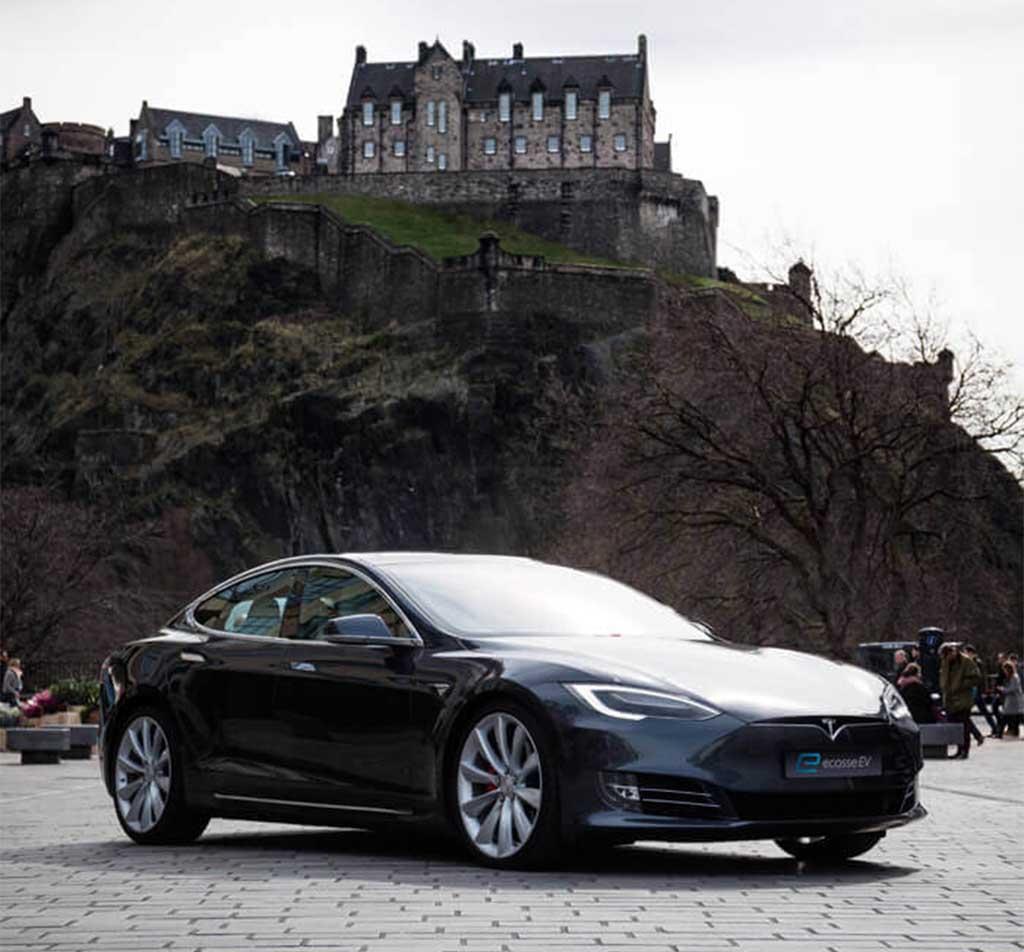 Tesla Model S in Edinburgh