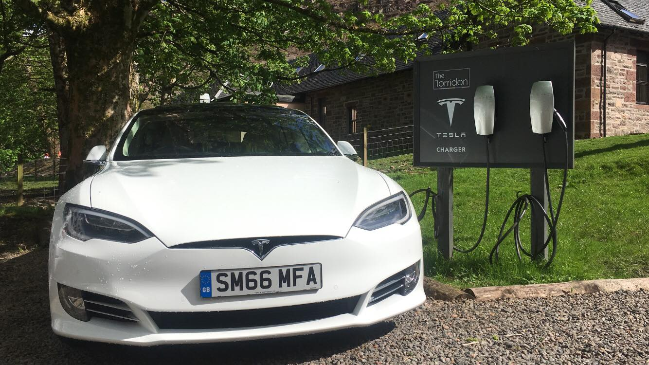 The Torridon Resort Tesla Charger