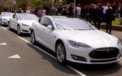 Ecosse EV Tesla White Wedding Cars