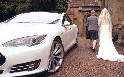 Tesla Wedding Car Hire in Scotland